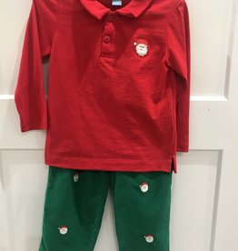 ANAVINI SANTA FACES  POLO SHIRT W/CORD PANTS