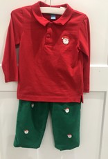 ANAVINI ANAVINI SANTA FACES L/S POLO SHIRT W/CORD PANTS