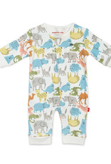 MAGNIFICENT BABY MAGNETIC ME ZOO CREW ORGANIC COTTON COVERALL