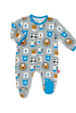 MAGNIFICENT BABY MAGNETIC ME ANIMAL HOUSE MODAL FOOTIE