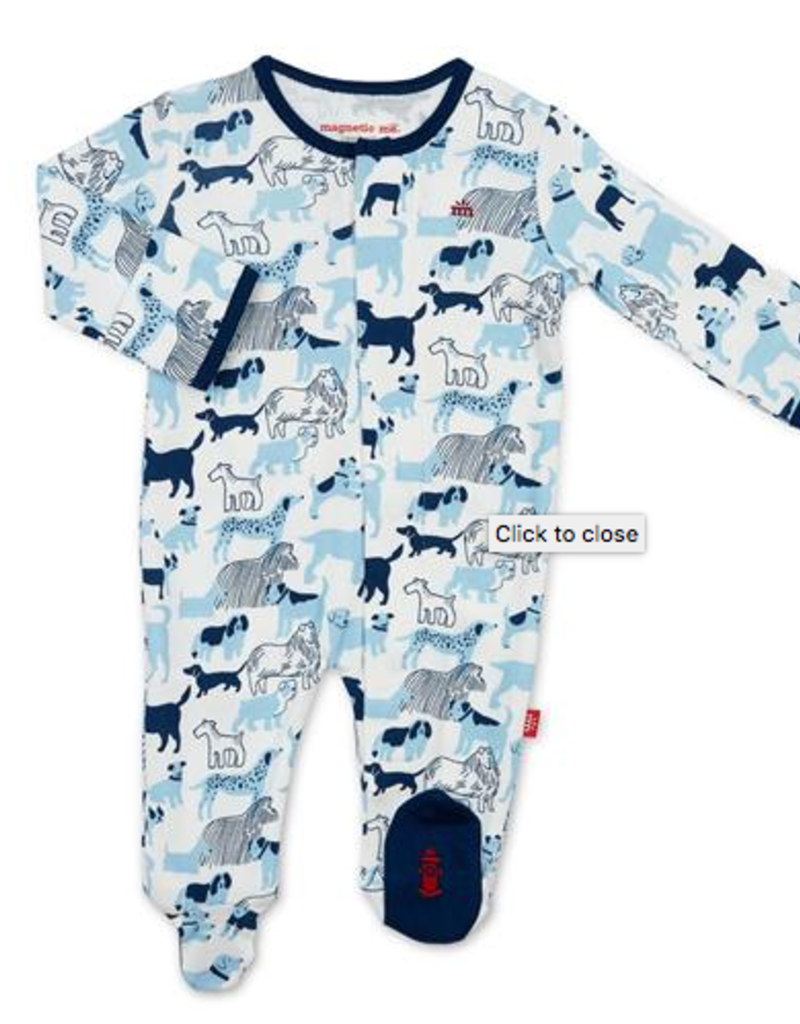 MAGNIFICENT BABY MAGNETIC ME BEST IN SHOW ORGANIC COTTON FOOTIE