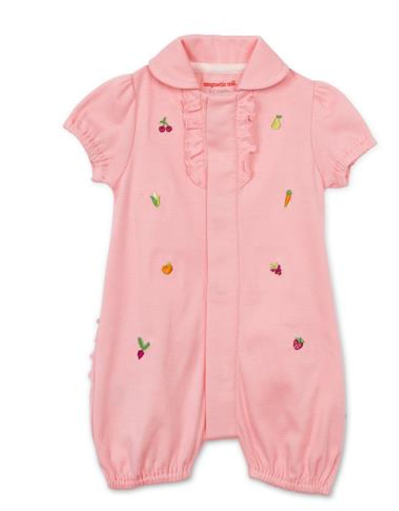 MAGNIFICENT BABY MAGNETIC ME ORGANIC COT PERFECT PUNS ROMPER