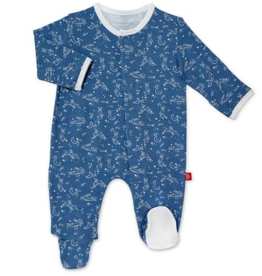 MAGNIFICENT BABY MAGNETIC ME SKY BUNNY MODAL FOOTIE