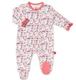 MAGNIFICENT BABY MAGNETIC ME BEATRIX FLORAL MODAL FOOTIE