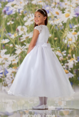 JOAN CALABRESE JOAN CALABRESE BEADED LACE APP ORGANZA, SATIN & TULLE DRESS
