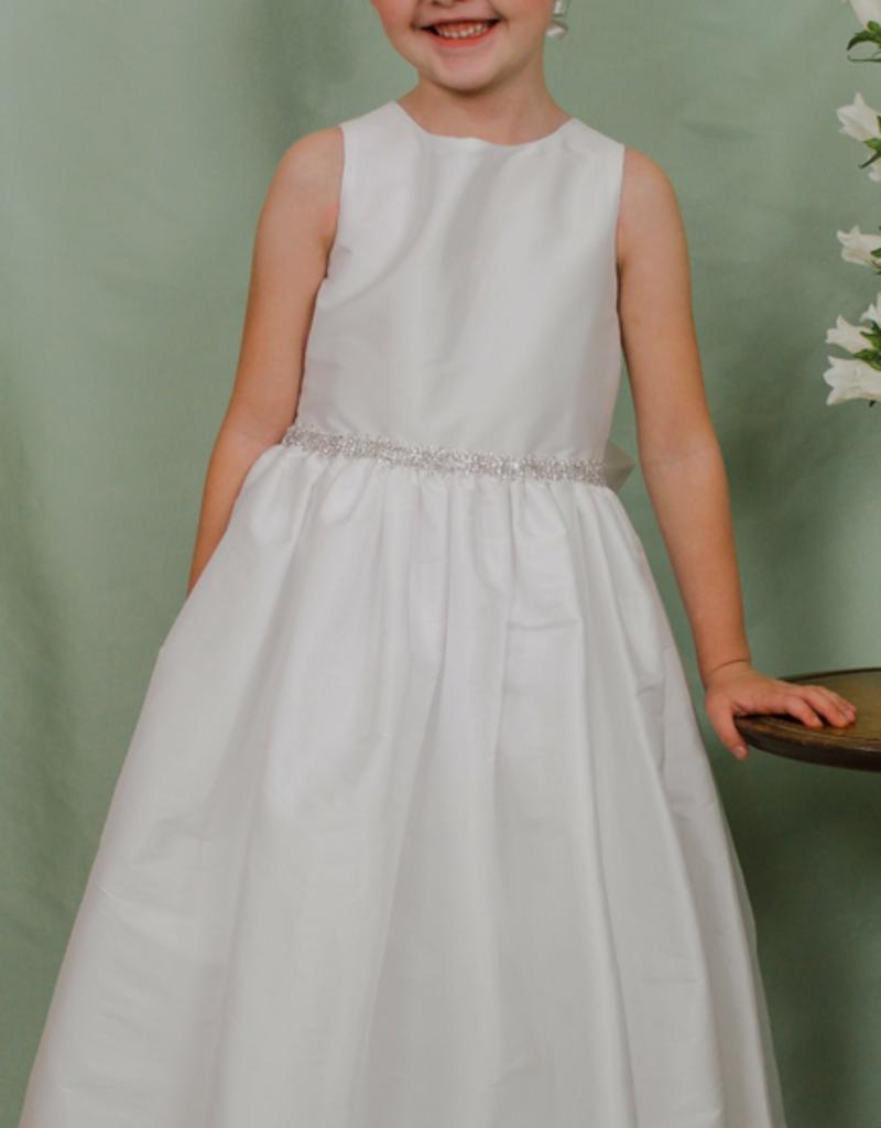 SUSANNE LIVELY SUSANNE LIVELY FAUX SILK DRESS W/TRIM AT WAIST