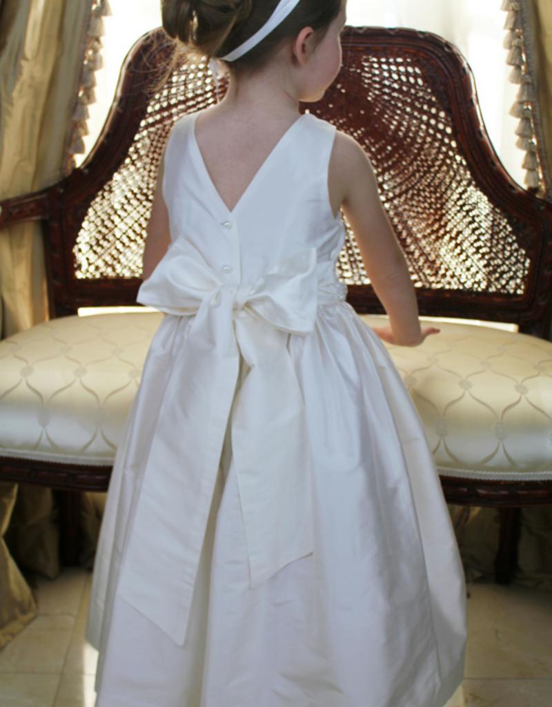 SUSANNE LIVELY SUSANNE LIVELY SILK DRESS W/BEADED WAIST