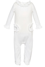 LILA & HAYES LILA & HAYES  FOOTED ROMPER W/RUFFLES