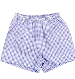 BAILEY BOYS BOYS BLUE  WINDOWPANE SHORT