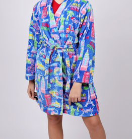 CANDY PINK/120 CLOTHING COM TRAVEL ROBE