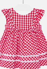 MAYORAL MAYORAL RED GINGHAM DRESS