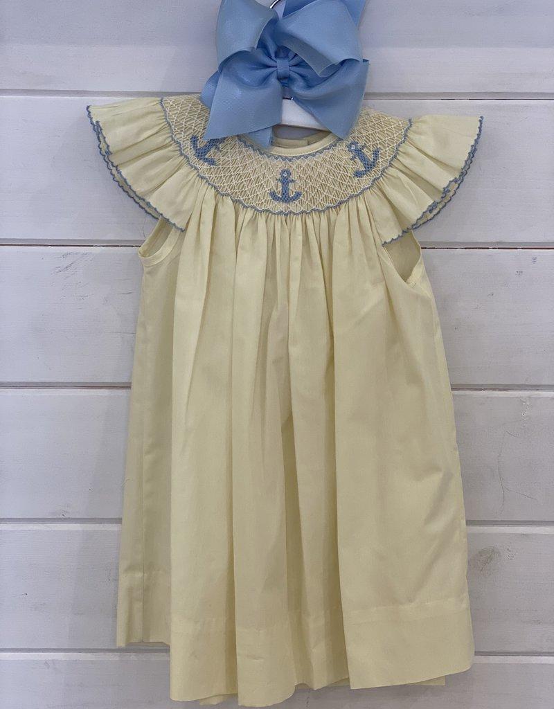 PETIT BEBE ANCHORS ANGEL WING SLV DRESS