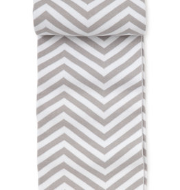 KISSY KISSY GREY CHEVRON NOVELTY KNIT BLANKET