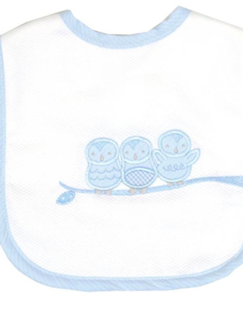 3 MARTHAS BLUE OWL FEEDING BIB