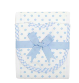 3 MARTHAS BLUE PUPPY BURP PAD & DROOLER SET