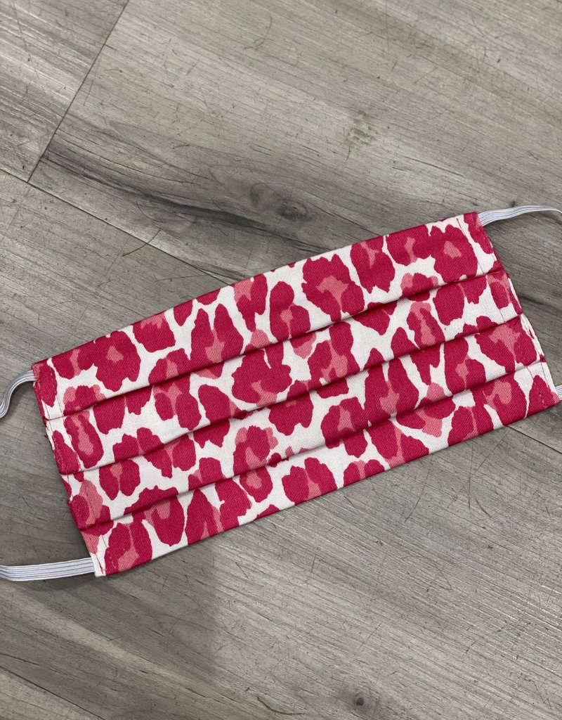 SUSANNE LIVELY YOUTH HOT PINK LEOPARD FACE MASK