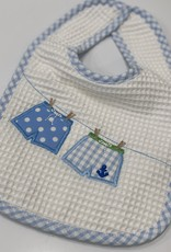 3 MARTHAS BLUE BATHING SUITS FEEDING BIB