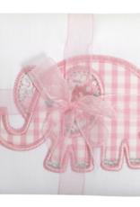 3 MARTHAS PINK ELEPHANT BURP PAD