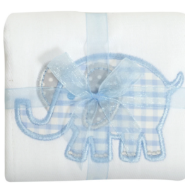 3 MARTHAS BLUE ELEPHANT BURP PAD