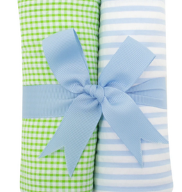 3 MARTHAS BLUE SAILBOAT FABRIC BURP PADS SET OF 2