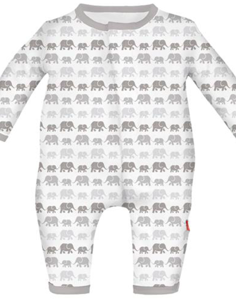 MAGNIFICENT BABY DANCING ELEPHANTS MODAL COVERALL
