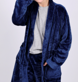 CANDY PINK/120 CLOTHING COM NAVY BLUE  BASIC FLEECE ROBE