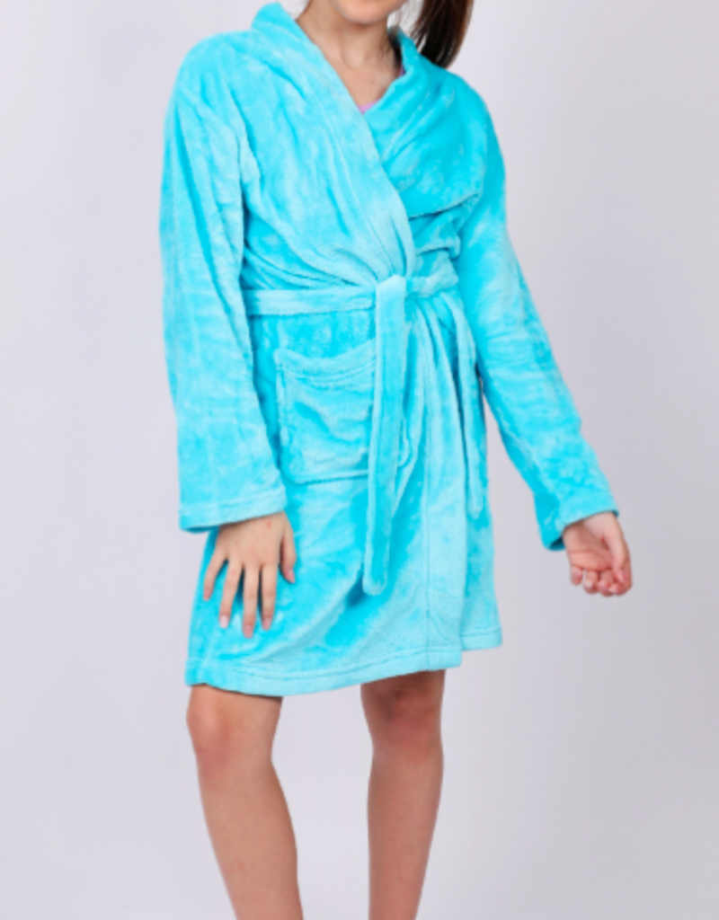CANDY PINK/120 CLOTHING COM GIRLS BASIC FLEECE ROBE