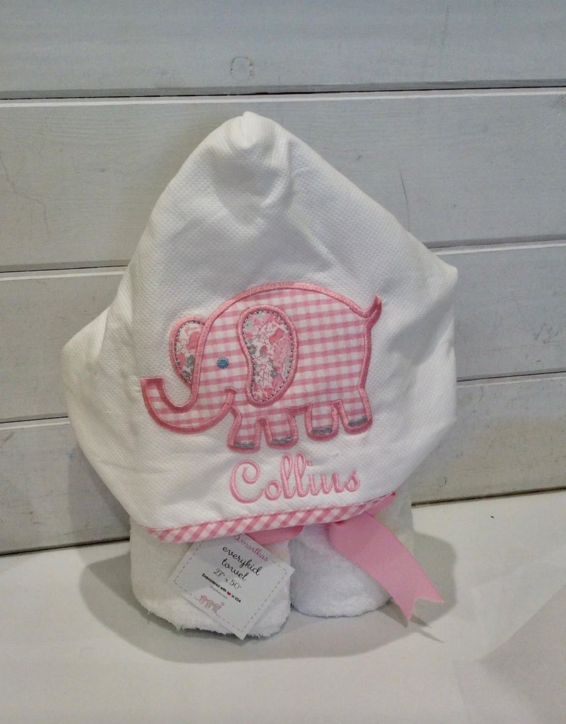 3 MARTHAS EVERYKID PINK ELEPHANT TOWEL