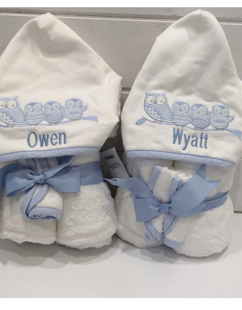 3 MARTHAS EVERYKID BLUE SAILBOAT TOWEL