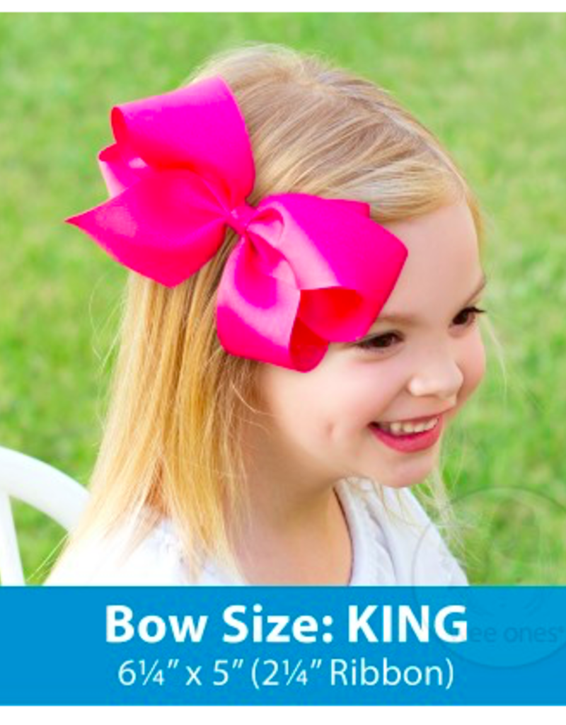 wee ones LIGHT PINK - KING  CLASSIC GROSGRAIN  BOW