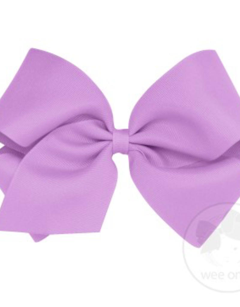 wee ones LIGHT ORCHID - KING  CLASSIC GROSGRAIN  BOW