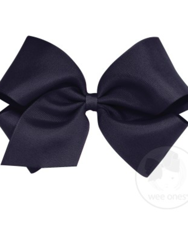 wee ones NAVY- KING  CLASSIC GROSGRAIN  BOW