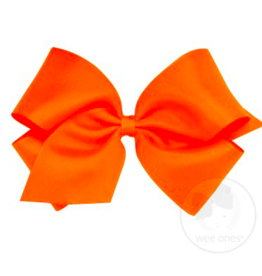 wee ones ORANGE - KING  CLASSIC GROSGRAIN  BOW