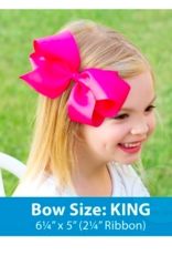 wee ones PEARL PINK - KING  CLASSIC GROSGRAIN  BOW