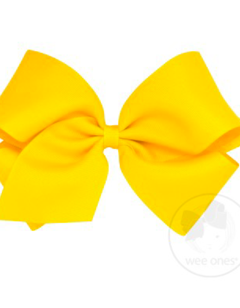 wee ones YELLOW- KING  CLASSIC GROSGRAIN  BOW
