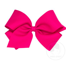 wee ones SHOCKING PINK - KING  CLASSIC GROSGRAIN  BOW