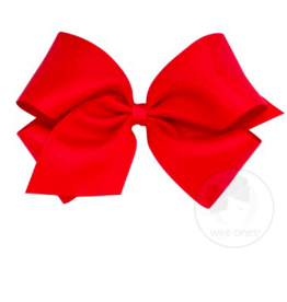 wee ones RED- KING  CLASSIC GROSGRAIN  BOW