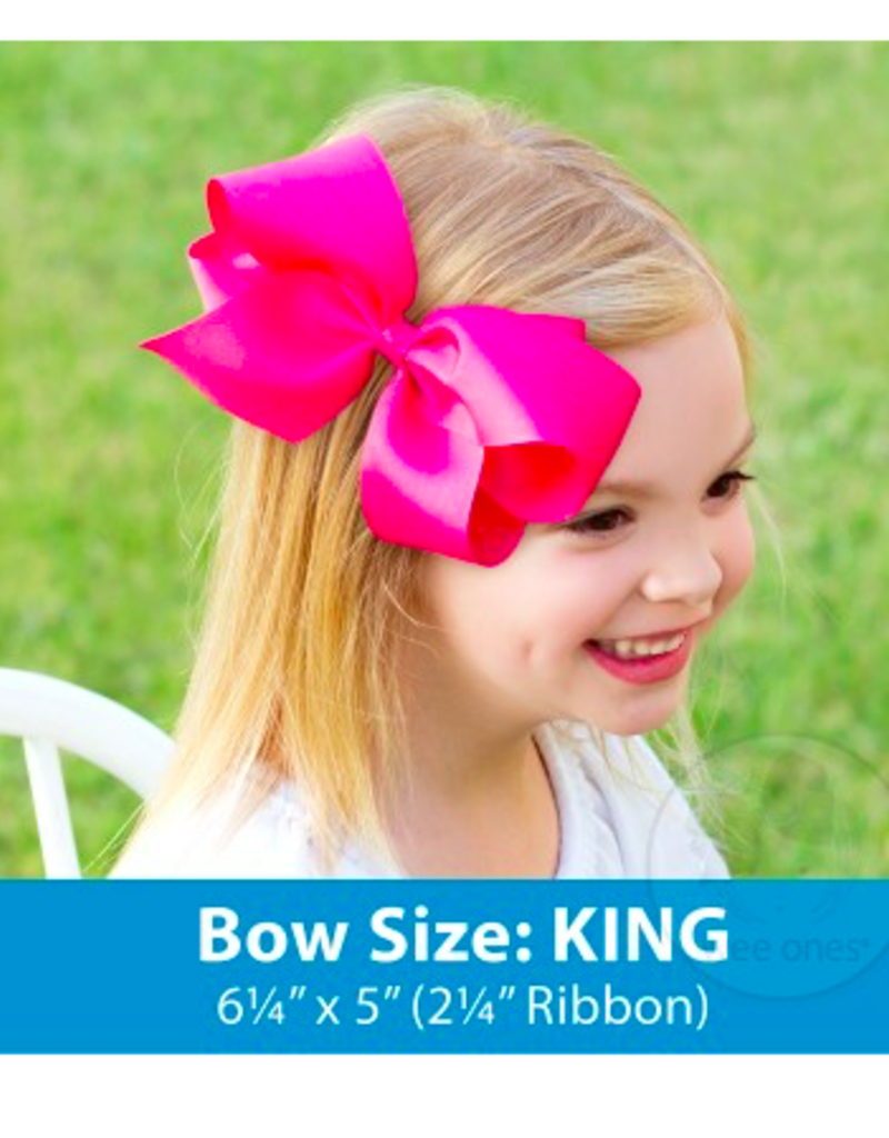 wee ones RED - KING  CLASSIC GROSGRAIN  BOW