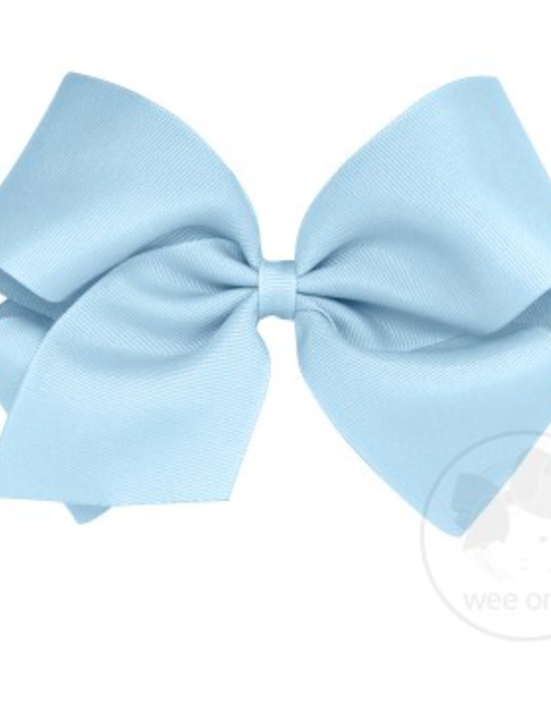 wee ones MILLENNIUM BLUE - KING CLASSIC GROSGRAIN BOW