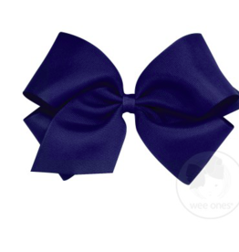 wee ones LIGHT NAVY- KING  CLASSIC GROSGRAIN  BOW