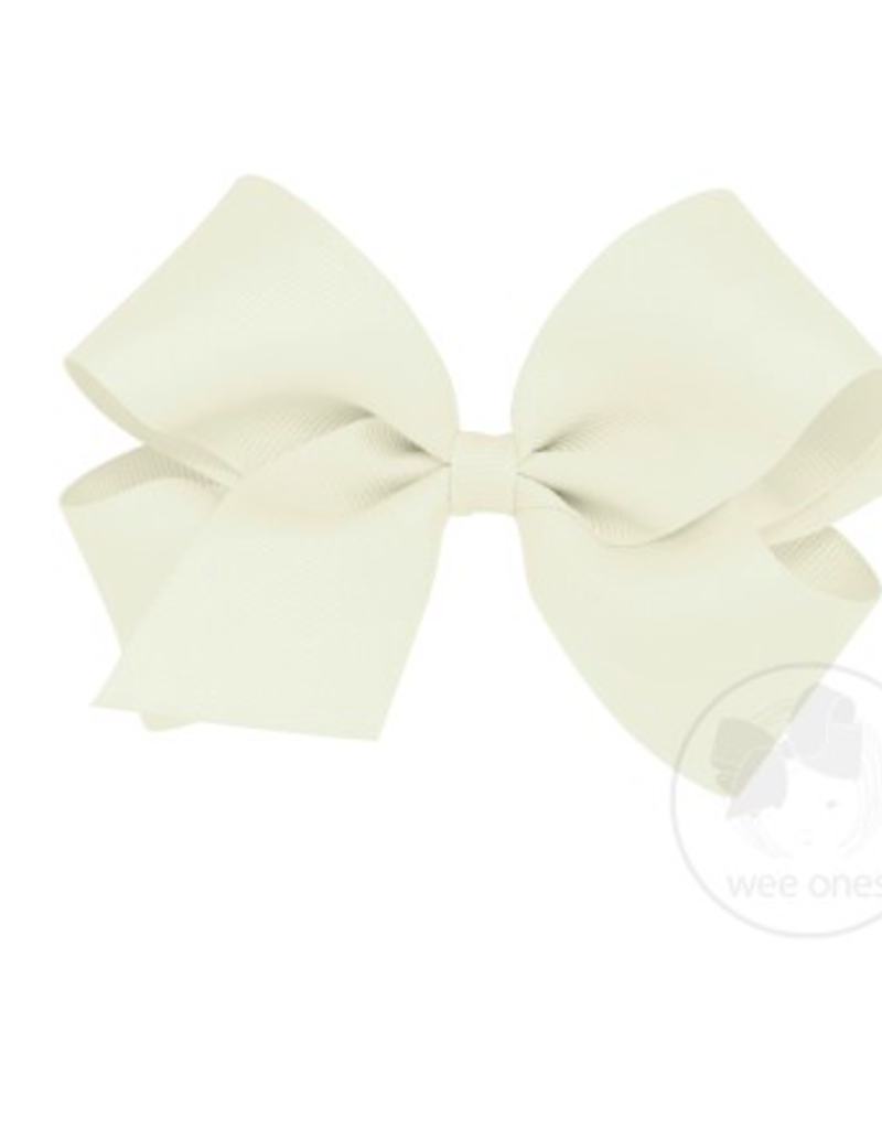 wee ones ANTIQUE WHITE- KING  CLASSIC GROSGRAIN  BOW