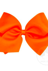wee ones ORANGE  - MEDIUM BASIC GROSGRAIN BOW