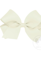 wee ones ANTIQUE WHITE - MEDIUM CLASSIC GROSGRAIN  BOW
