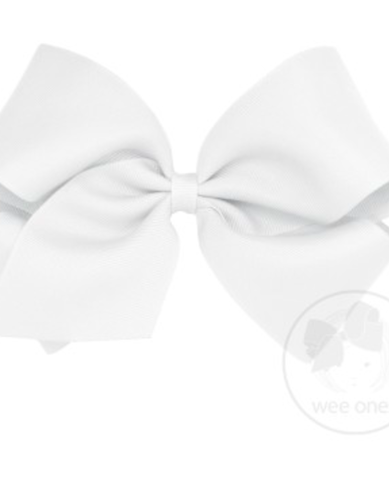 wee ones WHITE - MEDIUM  CLASSIC GROSGRAIN  BOW