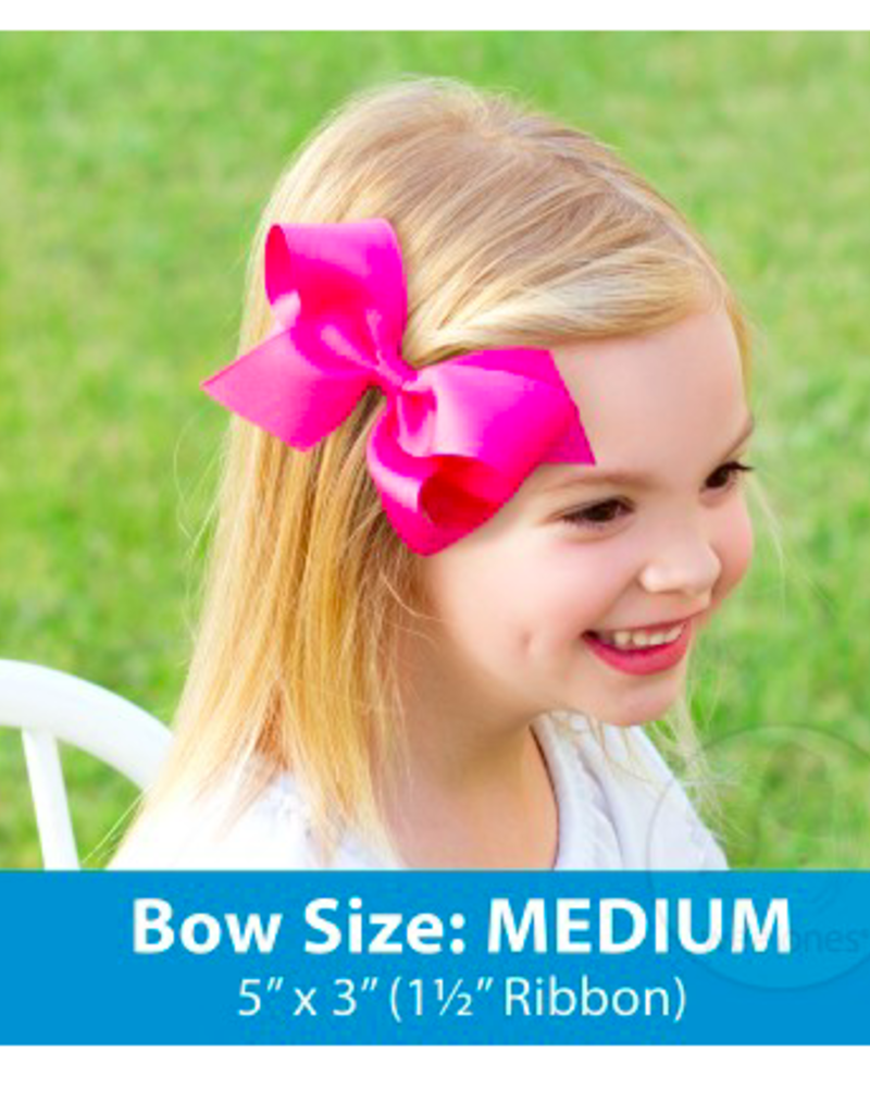 wee ones SHOCKING PINK - MEDIUM  CLASSIC GROSGRAIN  BOW