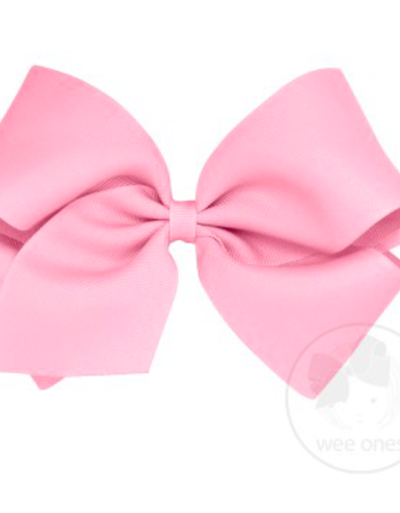 wee ones LIGHT PINK - MEDIUM  CLASSIC GROSGRAIN  BOW