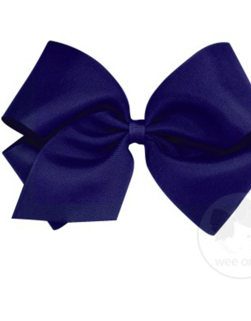 wee ones LIGHT NAVY- MEDIUM  CLASSIC GROSGRAIN  BOW