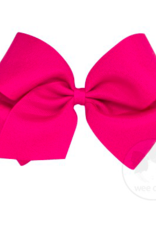 wee ones HOT PINK- KING  CLASSIC GROSGRAIN  BOW
