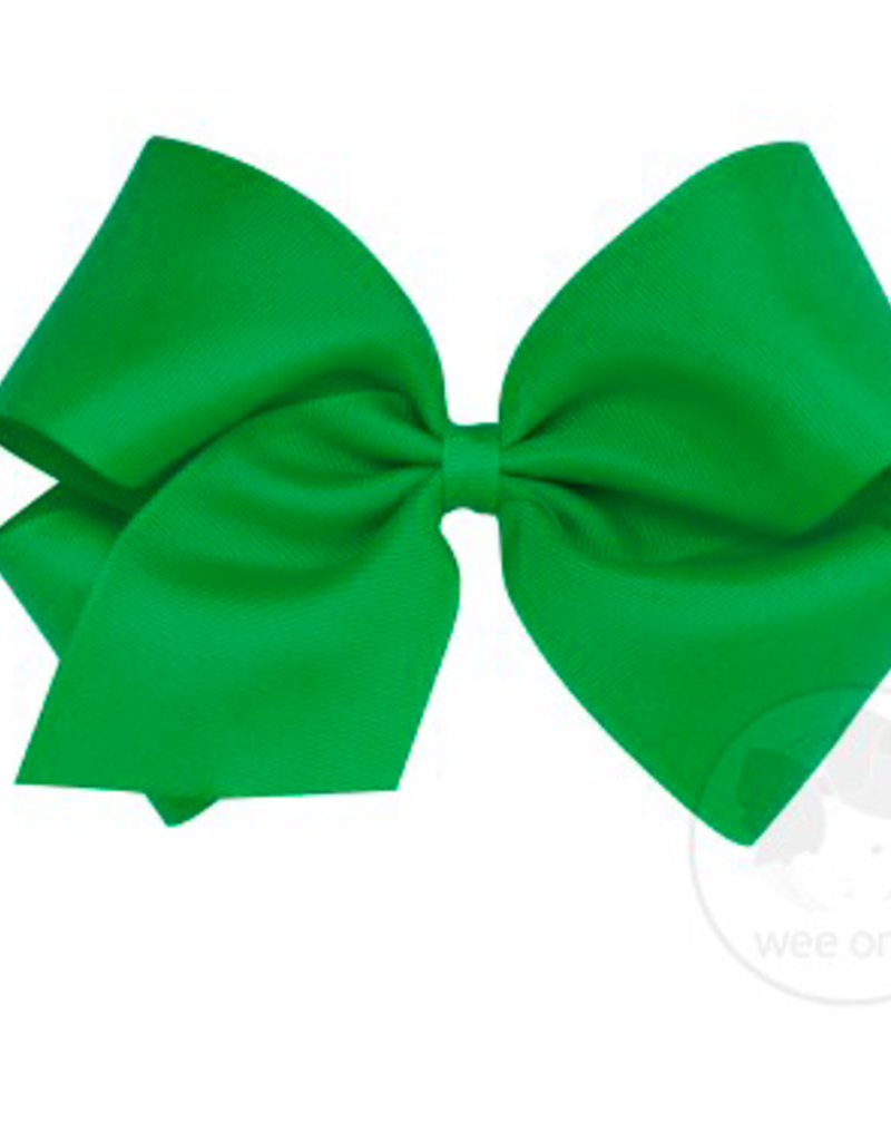 wee ones GREEN- MEDIUM CLASSIC GROSGRAIN  BOW