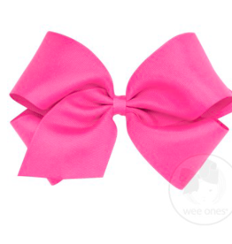 wee ones SHOCKING PINK - MINI CLASSIC GROSGRAIN  BOW